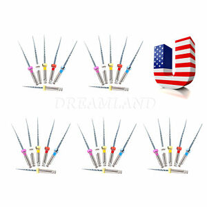5 Packs Usa Dental Endodontic Niti Root Canal Files Engine Sx f3 25mm Mixed