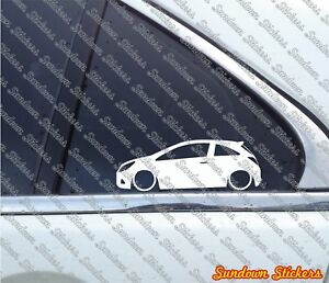 2x Lowered Car Stickers For Opel Corsa D Opc Sport