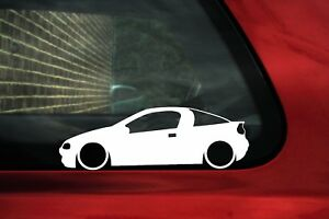 2x Lowered Car Stickers For Opel Tigra A 1994 2001