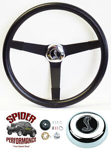 1970 1973 Mustang Steering Wheel Cobra 14 3 4 Vintage Black Grant