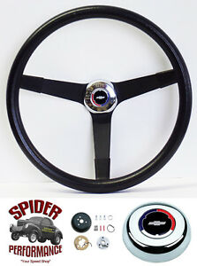 1967 Camaro Steering Wheel Red White Blue Bowtie 14 3 4 Vintage Black Grant