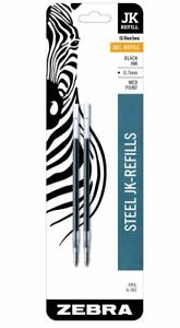 30 Gel Ink Refills For Zebra G 301 Gel Stainless Steel Pen Black Brand New Bulk