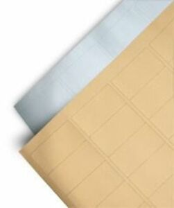 Metallic Rectangle And Round Labels Self Adhesive Stickers On A4 Sheets