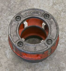 Ridgid 2 Npt 12r Pipe Threading Die Head Hand Ratchet Or Power Pony Threader