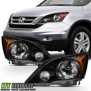 Blk For 2007 2008 2009 2010 2011 Honda Cr v Crv Headlights Headlamps Left right