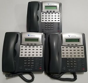 Lot Of 3 Comdial Vertical Edge 100 Grey Phone Ep100g 24