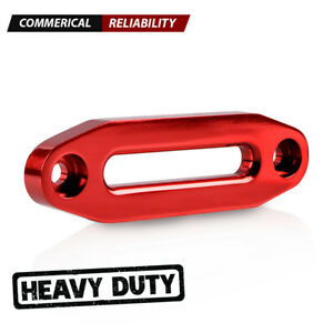 Red 6 Cnc 6061 Aluminum Hawse Fairlead For Synthetic Winch Rope 3500 5500lbs
