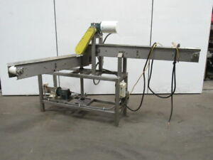 Double Stainless Steel Frame Plastic Chain Swing Arm Conveyor 6 w 32fpm