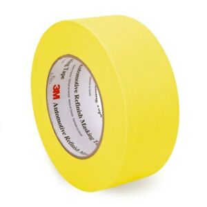 3m 6656 Automotive Refinish Yellow Masking Tape 48 Mm X 55 M Case 24 Rolls