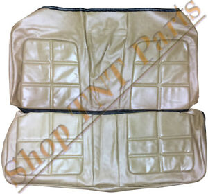 1969 Dodge Charger Seat Covers Rear Back Upholstery Skins 69 Saddle Tan