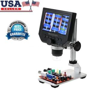 600x Lcd 3 6mp Electronic Digital Video Microscope For Mobile Phone Us Plug J2h0