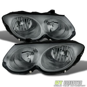 Smoked 1999 2004 Chrysler 300m Replacement Headlights Headlamps 99 04 Left Right