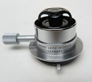 X1 Ernst Leitz Wetzlar Germany Microscope Top Swing Flip Out Optical Condenser