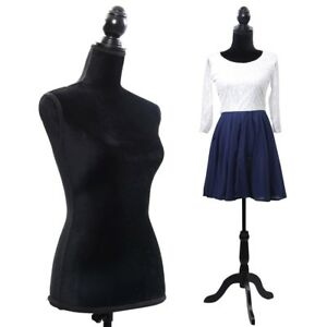 Female Mannequin Torso Dress Form Display With Tripod Stand Designer Pattern Us