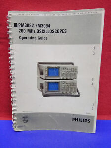Philips Pm3092 pm3094 200 Mhz Oscilloscopes Operating Guide Item Is Used