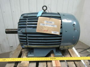 Us 100hp 1770rpm 230 460v 2 7 8 Shaft Damaged Mount Ac Motor 405t Frame