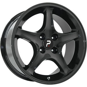 17x9 Black Wheel Oe Performance 102 1995 Mustang Cobra R 4x4 25