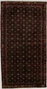 Excellent Allover Pattern Balouch Persian Wool Rug Oriental Area Carpet 3 4x6 5