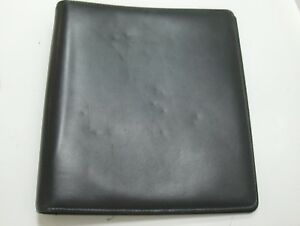 Monarch Planner Binder 1 5 Silver Rings Black Leather Usa
