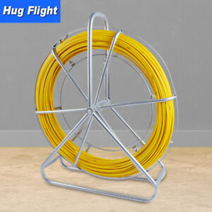 Fiberglass Wire Duct Rodder Fish Tape Cable Pulling Rod Wire Puller Push 6mm