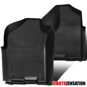 For 2009 2018 Dodge Ram 1500 Quad Cab Pickup Front Rubber Floor Mats Black 2pc