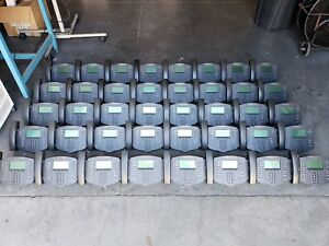 Lot Of 100 Polycom Soundpoint Ip501 Speaker Display Phones 1 Year Warranty