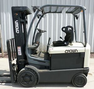 Crown Model Fc4020 50 2003 5000 Lbs Capacity Great 4 Wheel Electric Forklift