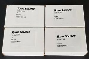 Lot Of 4 Nib Total Source Sy6325g6 Gray Forklift Battery Connector Kits 175 4 Ga