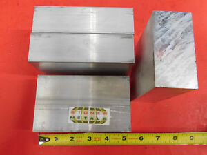 4 Pieces 1 1 2 X 3 Aluminum 6061 Flat Bar 5 Long Solid T6511 New Mill Stock