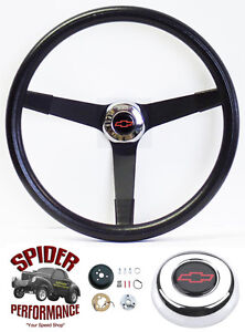 1948 1959 Chevy Pickup Steering Wheel Red Bowtie 14 3 4 Vintage Black Grant