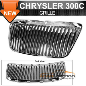 Fits 11 12 Chrysler 300c Vertical Front Grille Chrome Replacement Grill