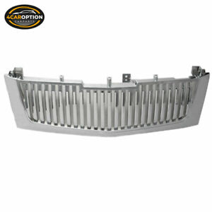 Fits 02 06 Cadillac Escalade Vertical Chrome Front Hood Grille Mesh Grill
