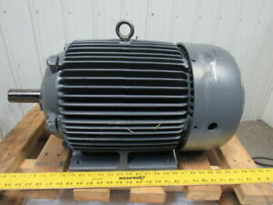 Westinghouse 20hp 1765rpm 230v 256t 1 5 8 Shaft Severe Duty Ac Electric Motor