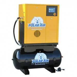 10 Hp 3 Ph Rotary Air Compressor W 60 Gallon Tank No China Parts 10 Yr Warranty