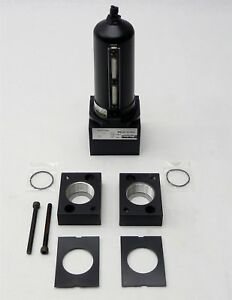 Parker Pneumatic Coalescing Filter P3nfa9pesm 1 1 2 W P3nkb9bcp Port Block Kit