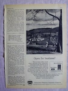 1956 Magazine Advertisement Page Independent Telephone Companies Of America Ad