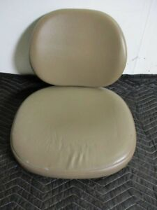New Unused Brown Ultraleather Upholstery For Adec 421 Dental Stool