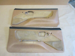 88 90 Firebird Gta Trans Am Dlxe Door Panels Tan Cloth Pm Pw Lh Rh Pair 0413 4