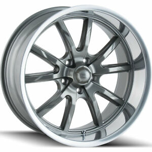 17x8 Gray Ridler Style 650 Wheels 5x4 5 0 Fits Ford Mustang 5 Lug Only