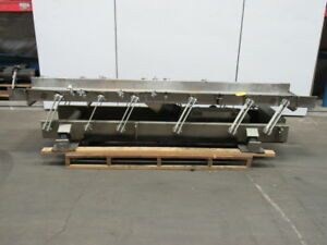 Link belt Lbl2405x10 4 5 Stainless Steel Pan 110 x24 Vibratory Shaker Conveyor