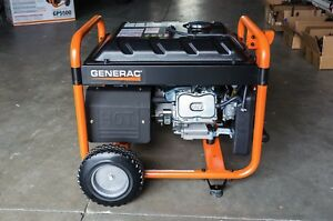 Generac 5500 Watt Generator Commercial Grade hold 7 2 Gallons Fuel runs 10 Hrs
