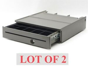 Lot 2 Ibm Full Size Point Of Sale Pos Cash Money Drawer 85g3981 till Insert Tray