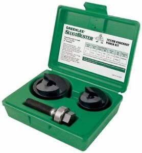 Greenlee 7237bb Slug buster Manual Knockout Kit For 1 1 2 And 2 inch Conduit