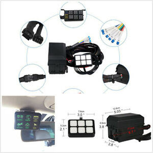6 Gang 6led Autos Switch Panel Relay Control Box wiring Harness Dc12v Universal