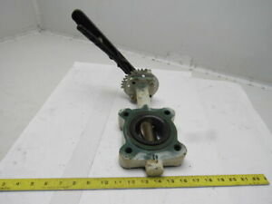 Stockham Lg712 bs3 em 2 1 2 Lug Type Butterfly Valve W hand Lever Actuated