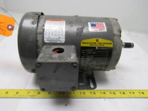Baldor M3545 1hp Electric Motor 208 230 460v 3ph 3450rpm 56 Frame