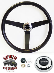1961 1966 Fury Valiant Belvedere Steering Wheel Plymouth 14 3 4 Vintage Black