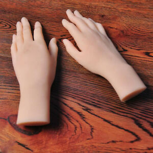 Realistic Lifesize Silicone Hand Female Model Display Props Mannequin One Hand