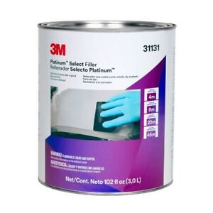 3m 31131 Platinum Select Lightweight Premium Auto Body Filler Gallon