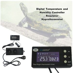 Digital Temperature Controller Regulator Crawling Pet Day night Thermostat
